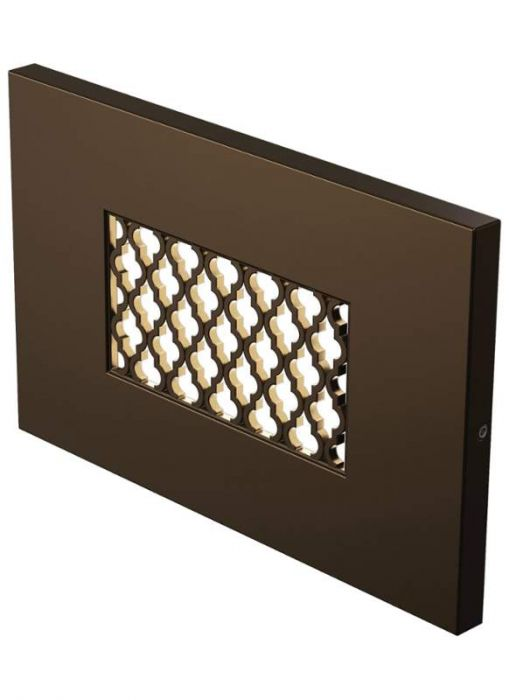 Lbl lighting tracery 1 light led outdoor step light in antique bronze step lights wall lights