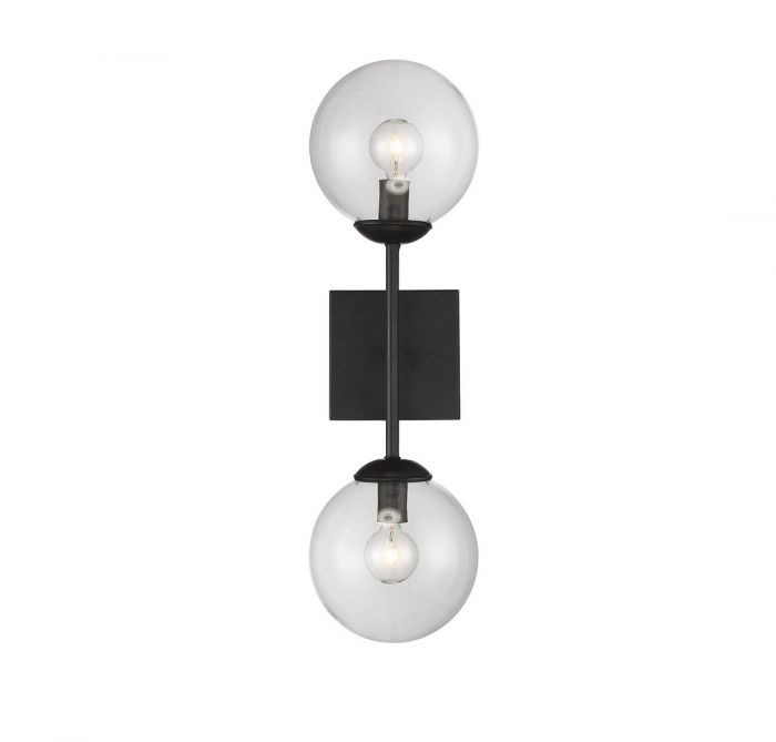Trade winds lighting orb 2 light sconce in black recommended wall trade winds lighting orb 2 light sconce in black recommended wall lights wall lights aloadofball Image collections