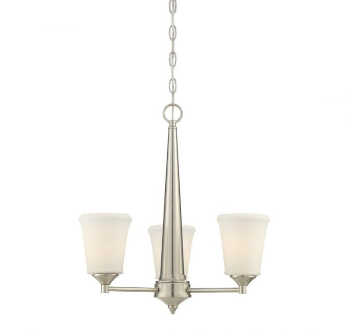 Trade winds lighting classic 3 light chandelier in brushed nickel skip to the beginning of the images gallery details this trade winds classic 3 light chandelier aloadofball Image collections