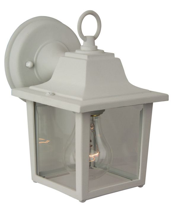Exteriors by Craftmade Outdoor Coach Lights Cast Aluminum Small Wall Mount in Matte White - Outdoor Wall Lights - Outdoor Lights  sc 1 st  LightsOnline.com : craftmade outdoor lighting - www.canuckmediamonitor.org