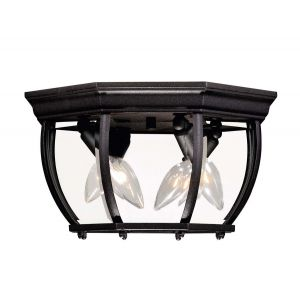 """Savoy House Exterior Collections 7"""" Flush Mount in Black"""