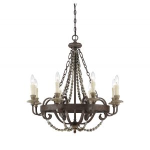 Savoy House Mallory 8-Light Chandelier in Fossil Stone