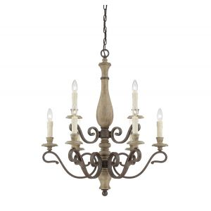 Savoy House Mallory 9-Light Chandelier in Fossil Stone
