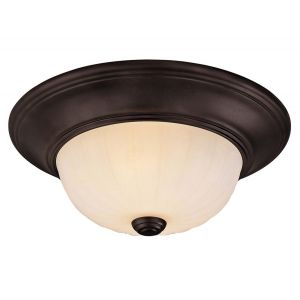 "Savoy House 11"" 2-Light Flush Mount in English Bronze"