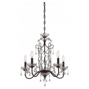 Minka Lavery Mini Chandeliers 5-Light Mini Chandelier in Kinston Bronze