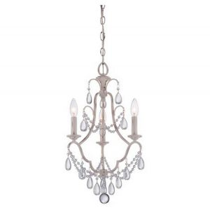 Minka Lavery Mini Chandeliers 3-Light Mini Chandelier in Provencal Blanc