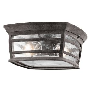 Kichler McAdams 2-Light Outdoor Flush & Semi Flush in Weathered Zinc