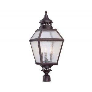 Savoy House Chiminea 3-Light Post Lantern in English Bronze