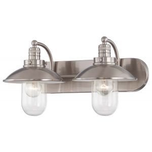 Minka Lavery Downtown Edison 2-Light Bath Vanity in Brushed Nickel