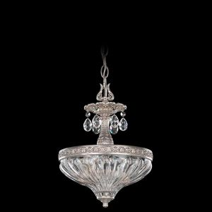 Schonbek milano 9 light chandelier in parchment gold traditional schonbek milano 2 light semi flush in antique silver mozeypictures Gallery