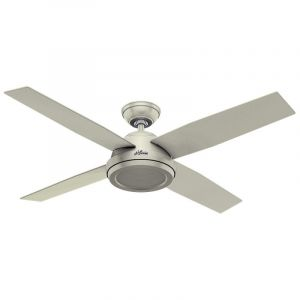 """Hunter Dempsey 52"""" Indoor Ceiling Fan in White"""