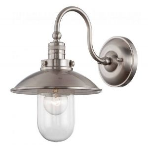 Minka Lavery Downtown Edison 1-Light Wall Sconce in Brushed Nickel