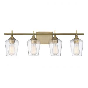 Savoy House Octave 4-Light Bath Bar in Warm Brass