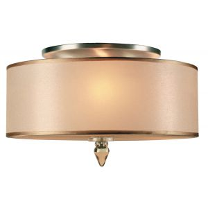 Crystorama Luxo 3-Light Drum Shade Flush Mount