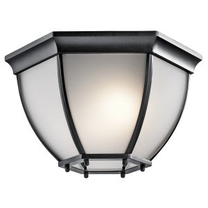 Kichler Signature 2-Light Outdoor Flush & Semi Flush Mount in Black