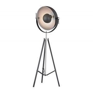 "Dimond Backstage 63"" Adjustable Floor Lamp in Matte Black and Polished Nickel"