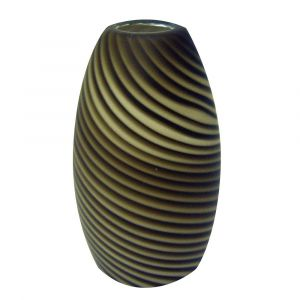 Jeremiah Design A Fixture Mini Pendant Glass in Dark Chocolate Pinstripes