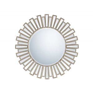 "Quoizel 39.5"" Wide Mirror in Silver Finish"