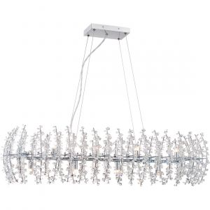 """Quoizel Valla 39"""" 8-Light Island Chandelier in Polished Chrome"""