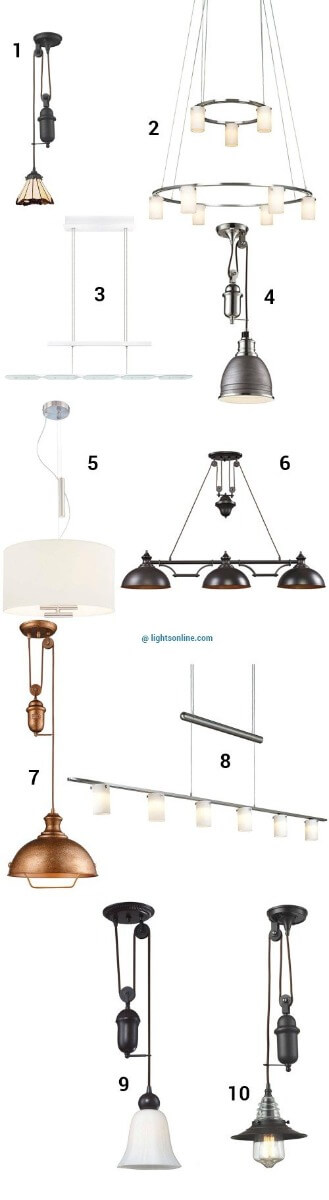 Retractable pendant lights to customize your look aloadofball Images