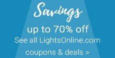 Save up to 70% - see all coupons and deals here - LightsOnline.com